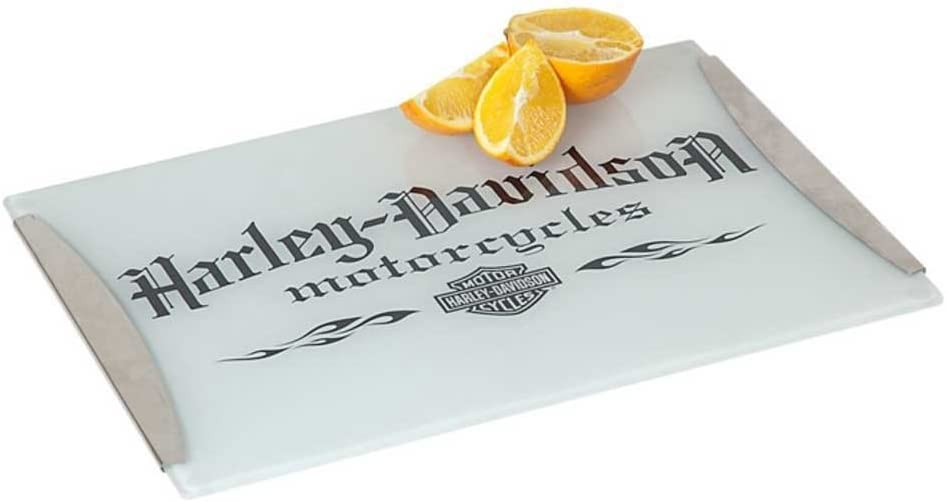 4-Harley-Davidson Motorcycle Tempered Glass Cutting Board