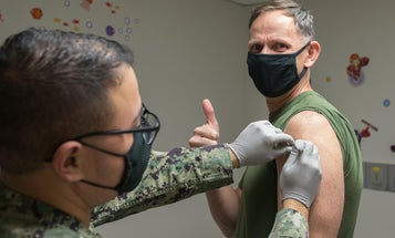 The Pentagon says there's no data on troops refusing vaccines. One general just proved them wrong