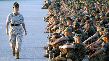 female marine drill instructor