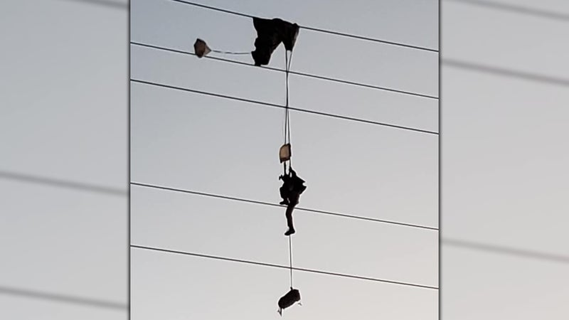 These photos of a paratrooper caught in high voltage power lines are my worst f'ing nightmare