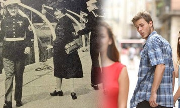 The untold story of the dapper Marine who became the Greatest Generation's 'distracted boyfriend' meme