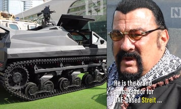 Steven Seagal is the new pitchman for a shady armored vehicle manufacturer in the UAE