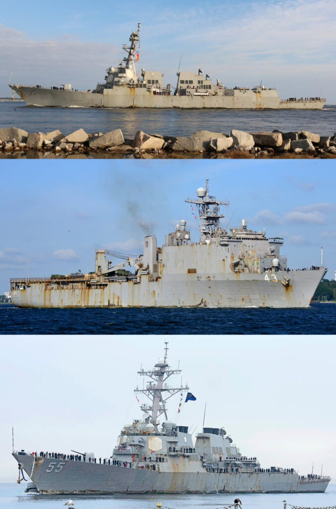 The Navy's surface fleet is turning into a floating advertisement for Rust-Oleum