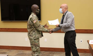 He began as an American soldier, he's now also an American citizen