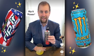 Watch a professional sommelier review Rip-It and other energy drinks