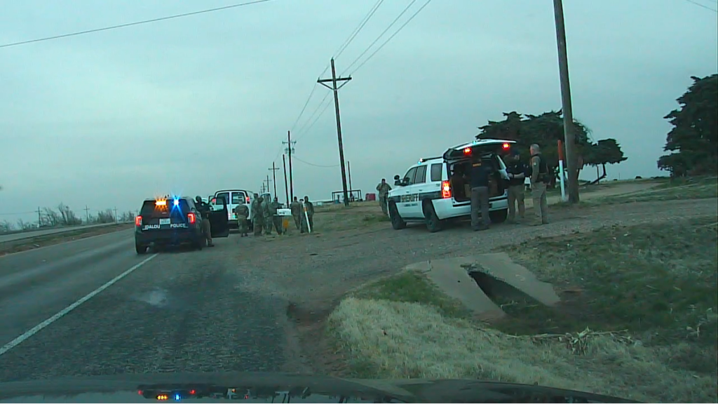 A 'mentally disturbed' man with a gun allegedly ran a National Guard vaccine convoy off the road in Texas