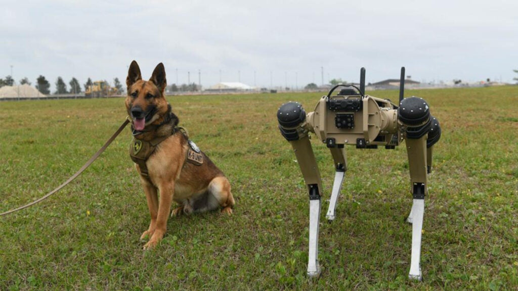 Air Force robot dogs are here and they appear to be very good boys