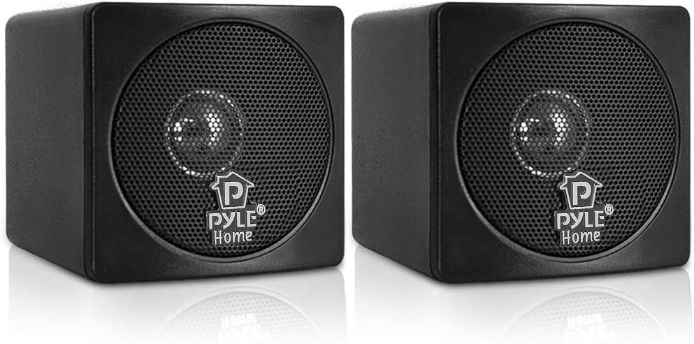 "Pyle 3"" Mini Cube Bookshelf Speakers"