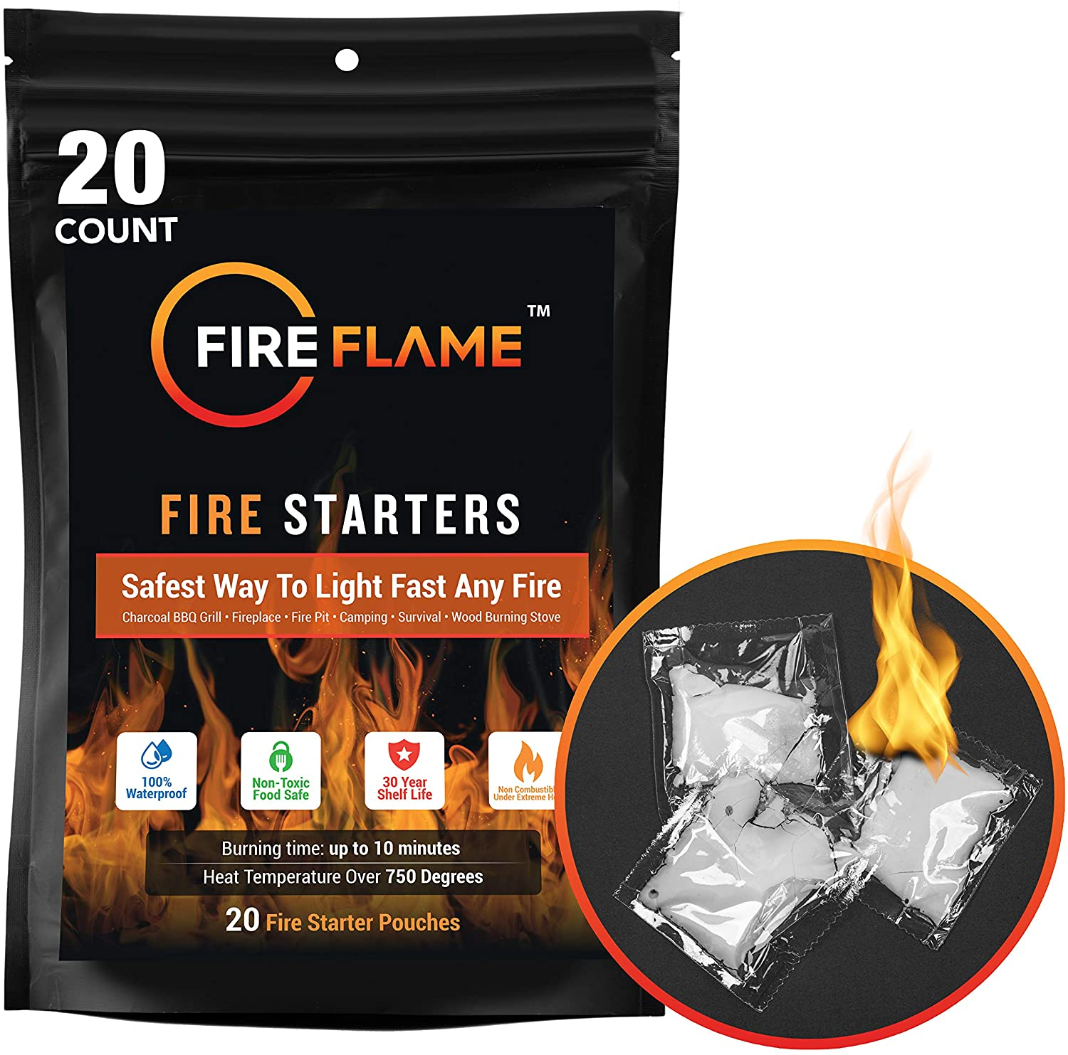 Fire Flame Pouches