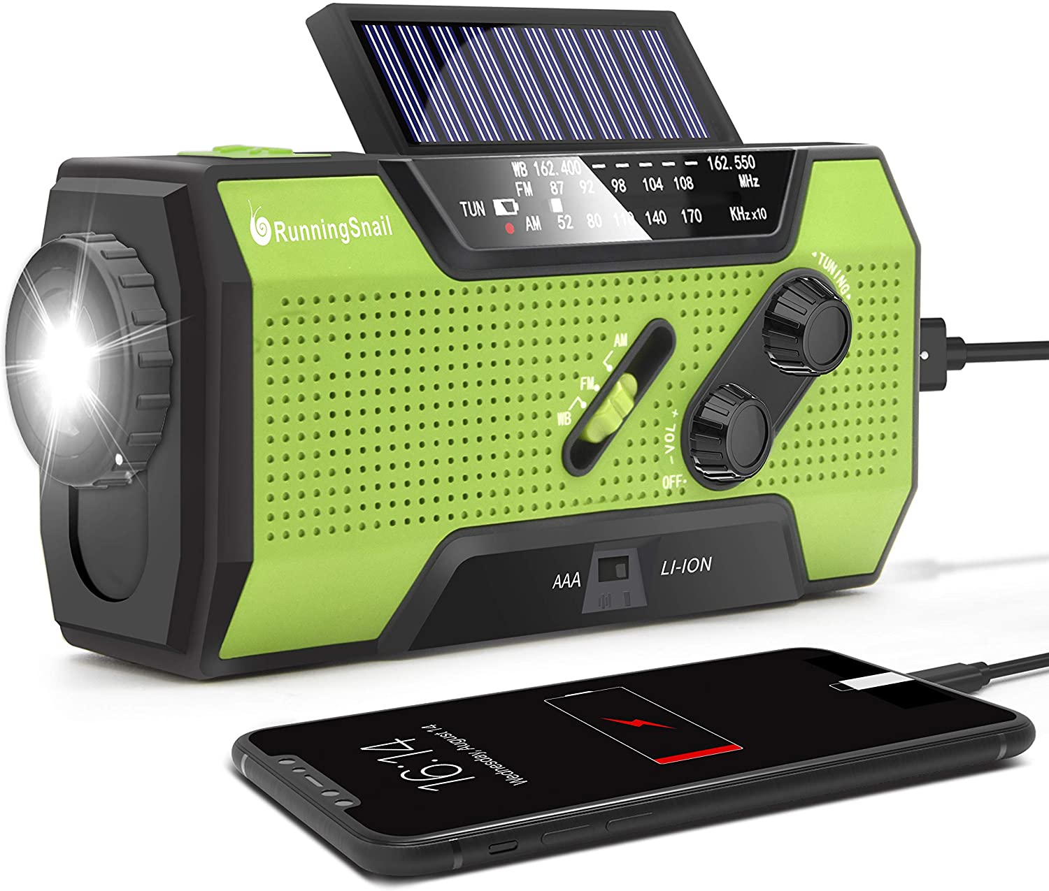 RunningSnail Solar Crank Emergency Radio