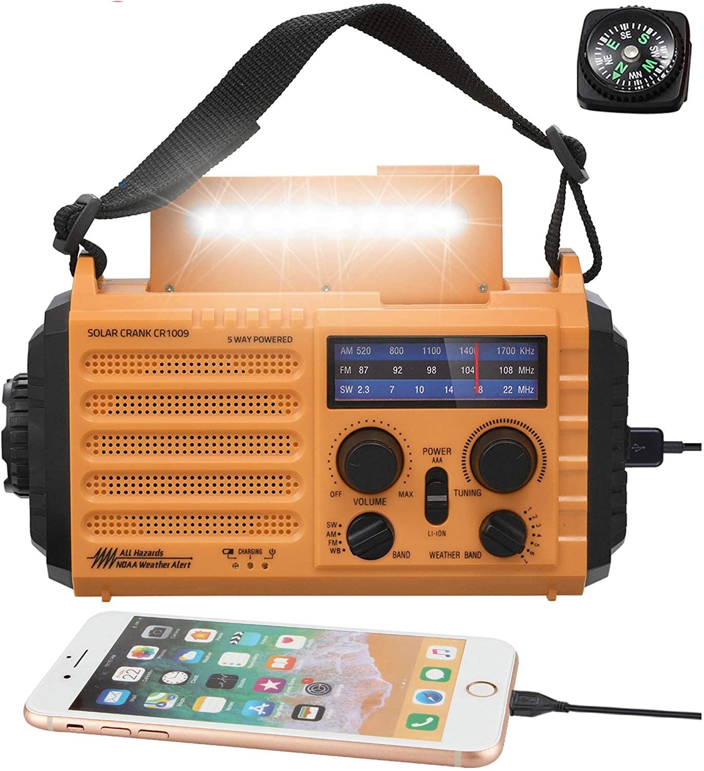 Mesqool 5-Way Emergency Radio