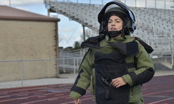 'It's only four more laps' — EOD soldier sets a world record running a mile in a 96-pound bomb suit