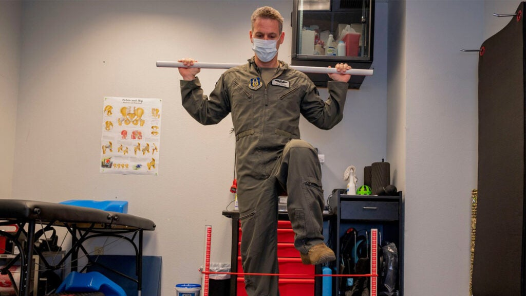 Here's why Air Force fighter pilots get massage therapists and athletic trainers