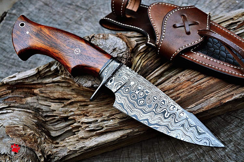 Bobcat Knives Damascus Steel Survival Knife