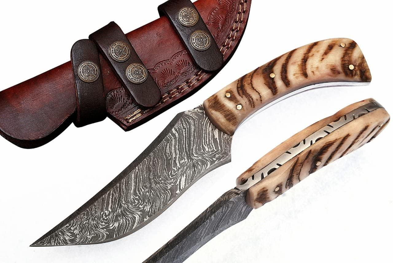 Grace Knives Damascus Hunting Knife