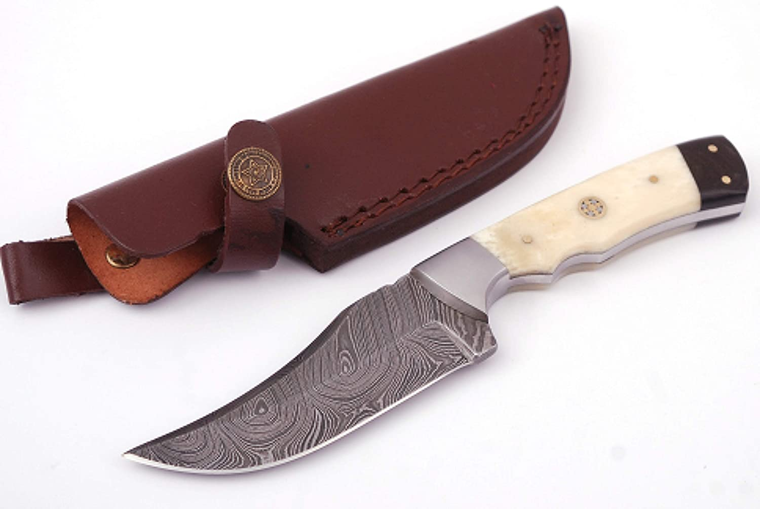 Anna Home Collection Damascus Hunting Knife