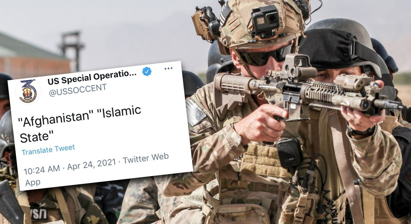 Special operations unit finally admits its strange tweet did not come from a hacker