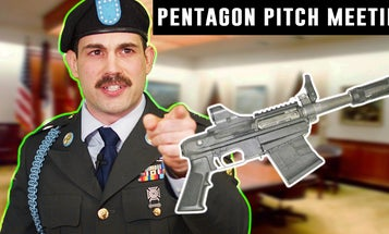 Here's a behind-the-scenes look at a Pentagon pitch meeting for the absurd M26 Shotgun