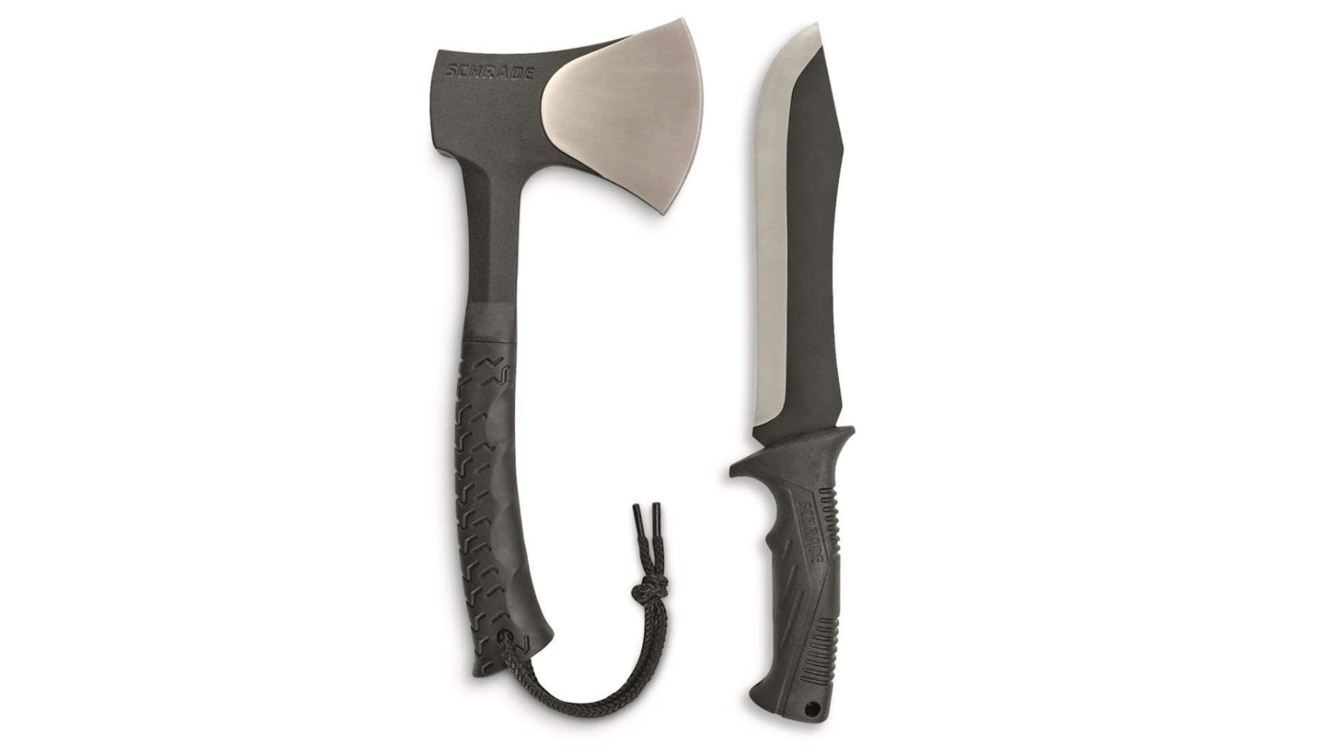 You can now score this sweet Schrade hatchet and mini-machete combo for a major discount