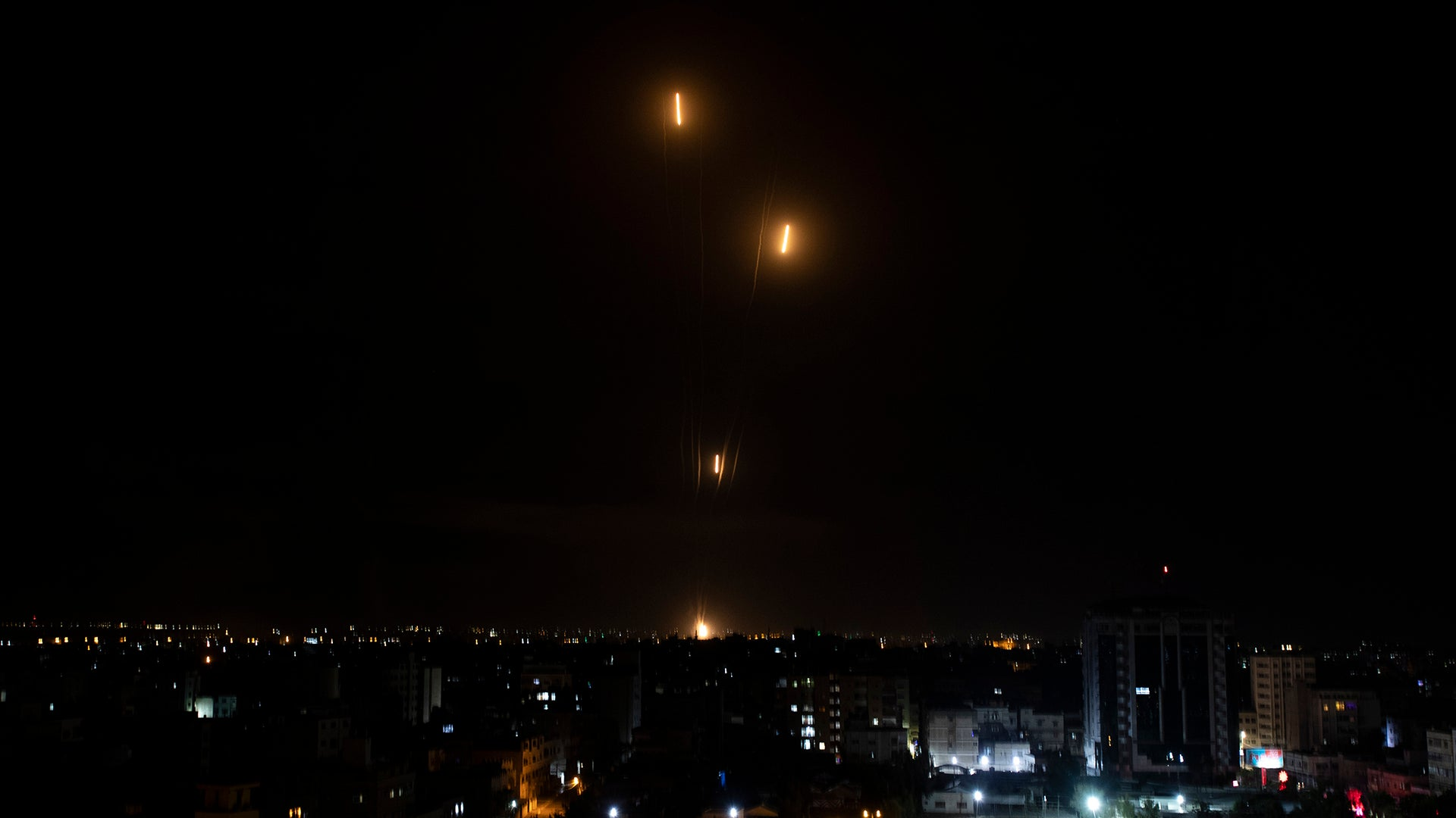 Watch Israel's 'Iron Dome' fend off massive rocket attacks
