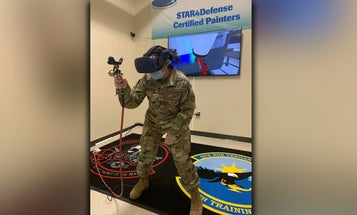 The Air Force is using virtual reality to teach airmen how to… paint