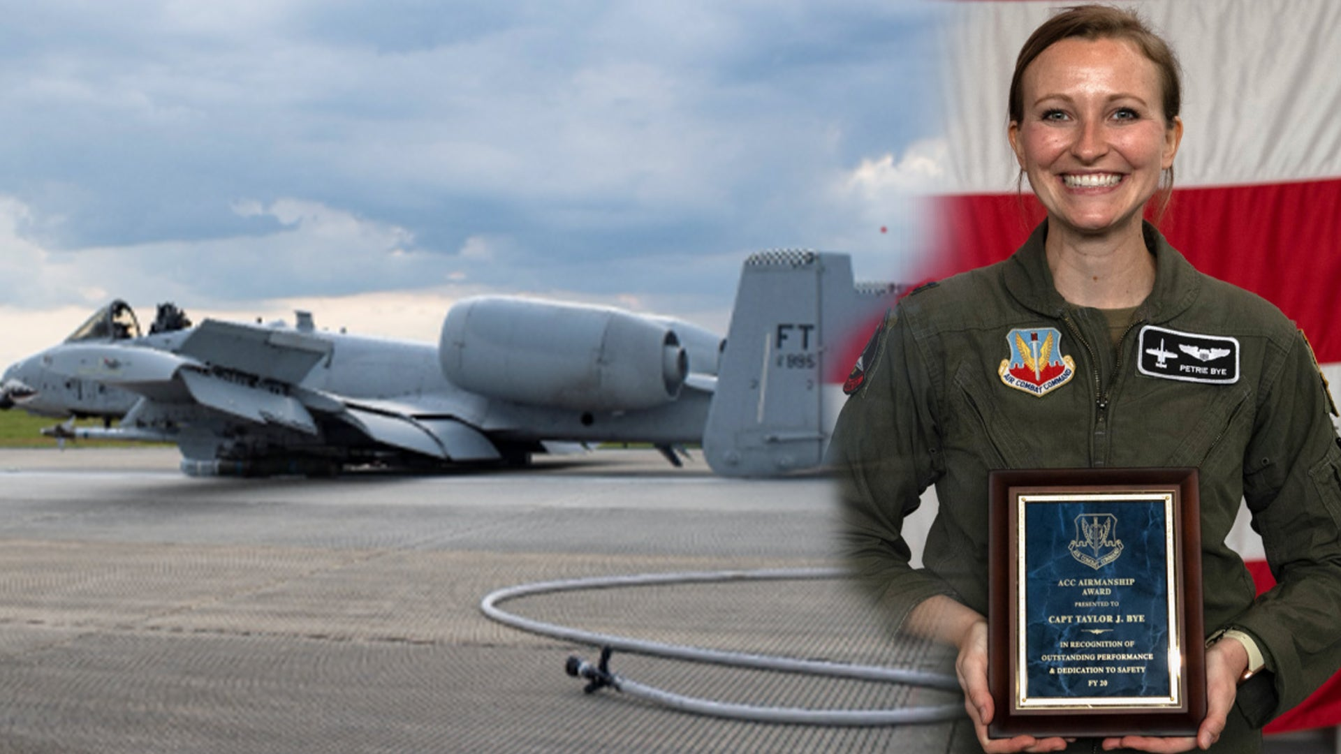 Badass Air Force pilot recognized for belly-landing an A-10 with canopy ripped off