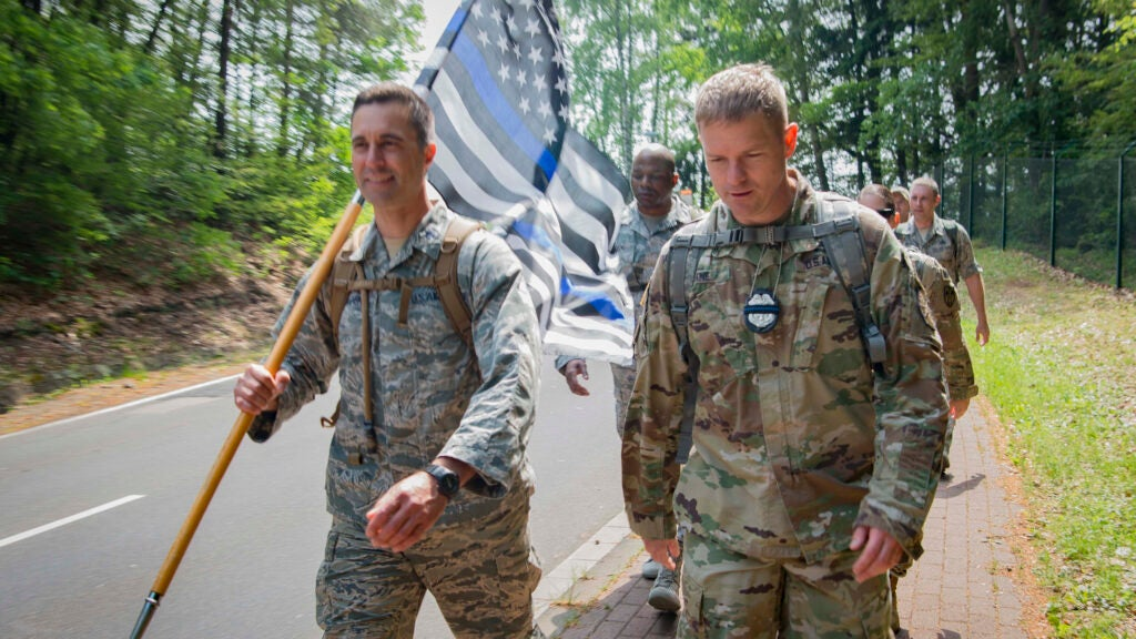 Why Ramstein Air Base removed photos of the 'Thin Blue Line' flag from its social media pages