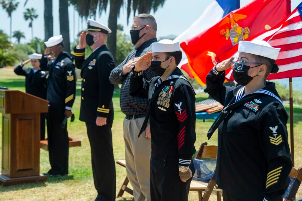 The Navy's most decorated Corpsman has retired 18 years after running through gunfire to save 5 Marines