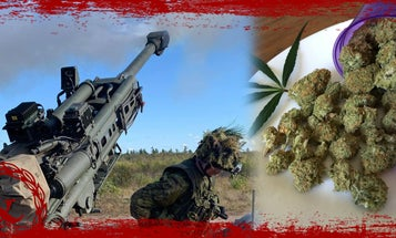 Canadian troops were going to fire artillery. Then they got high