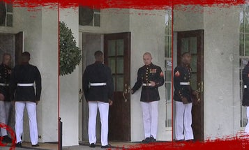 Why those US Marines were spotted opening and closing a White House door
