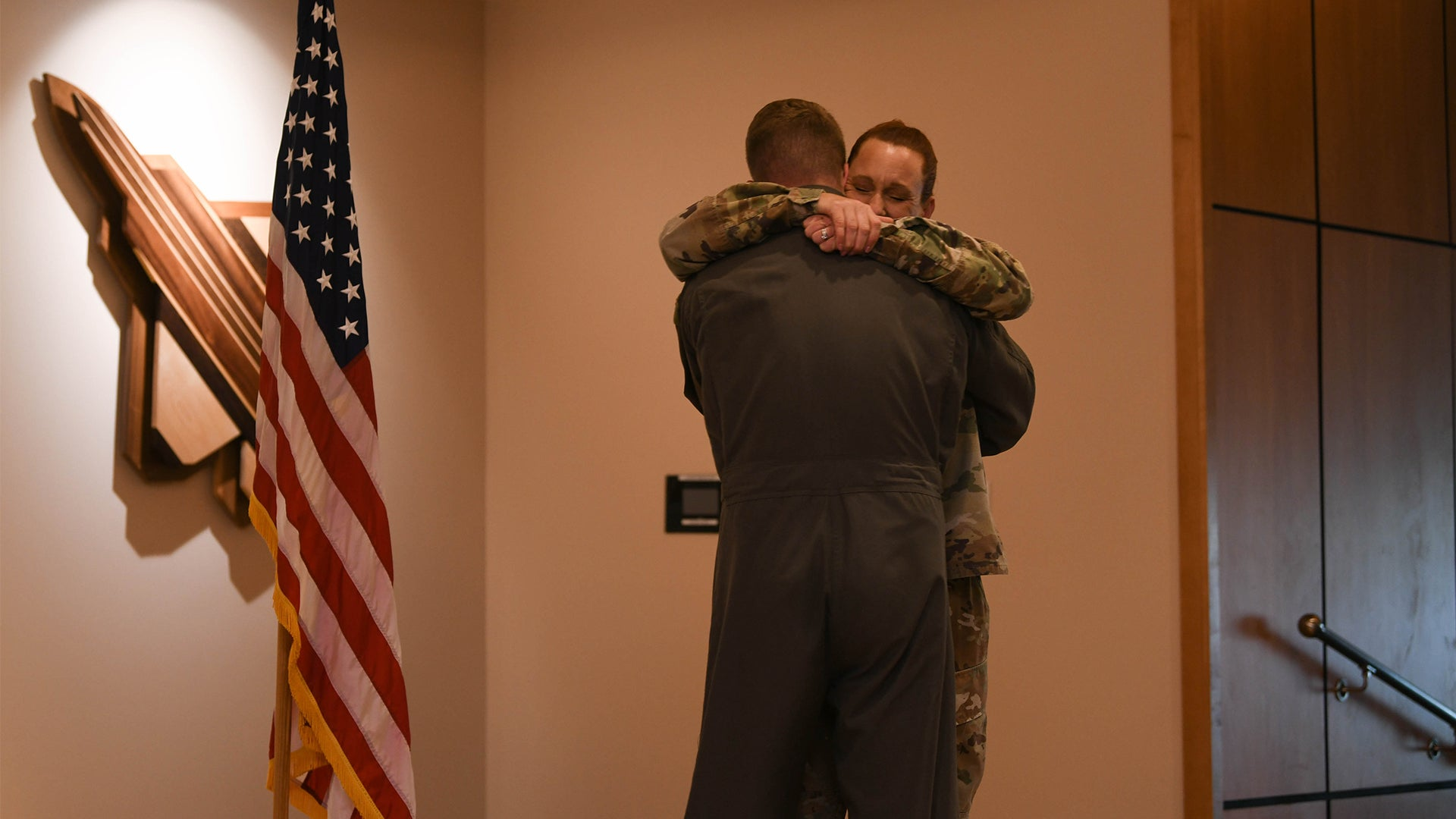 He followed his mom into the Air Force. Now he's administering her final reenlistment oath