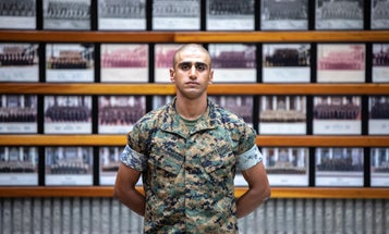 As a child in Baghdad, he watched US Marines on patrol. Now he'll make Marines as a drill instructor