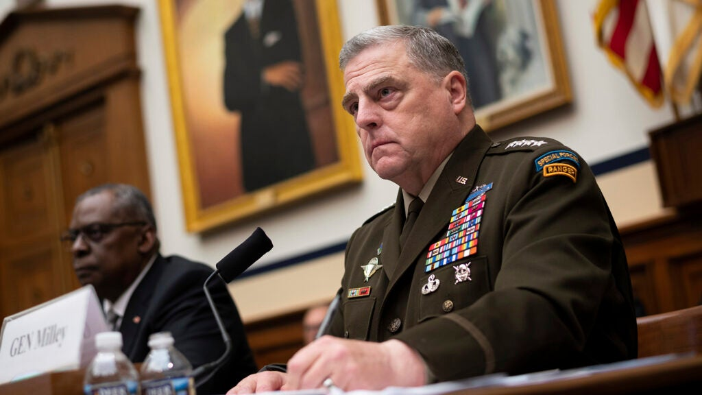 General Mark Milley, Chairman of the Joint Chiefs