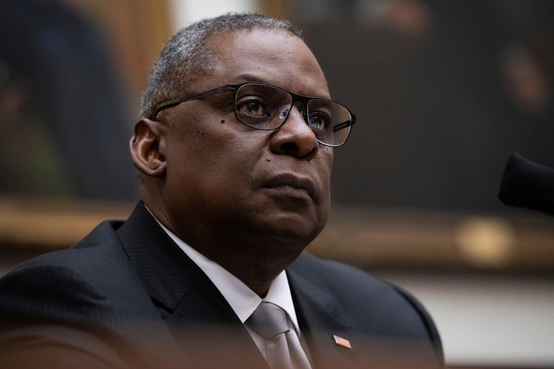 Secretary of Defense Lloyd Austin testifying to Congress
