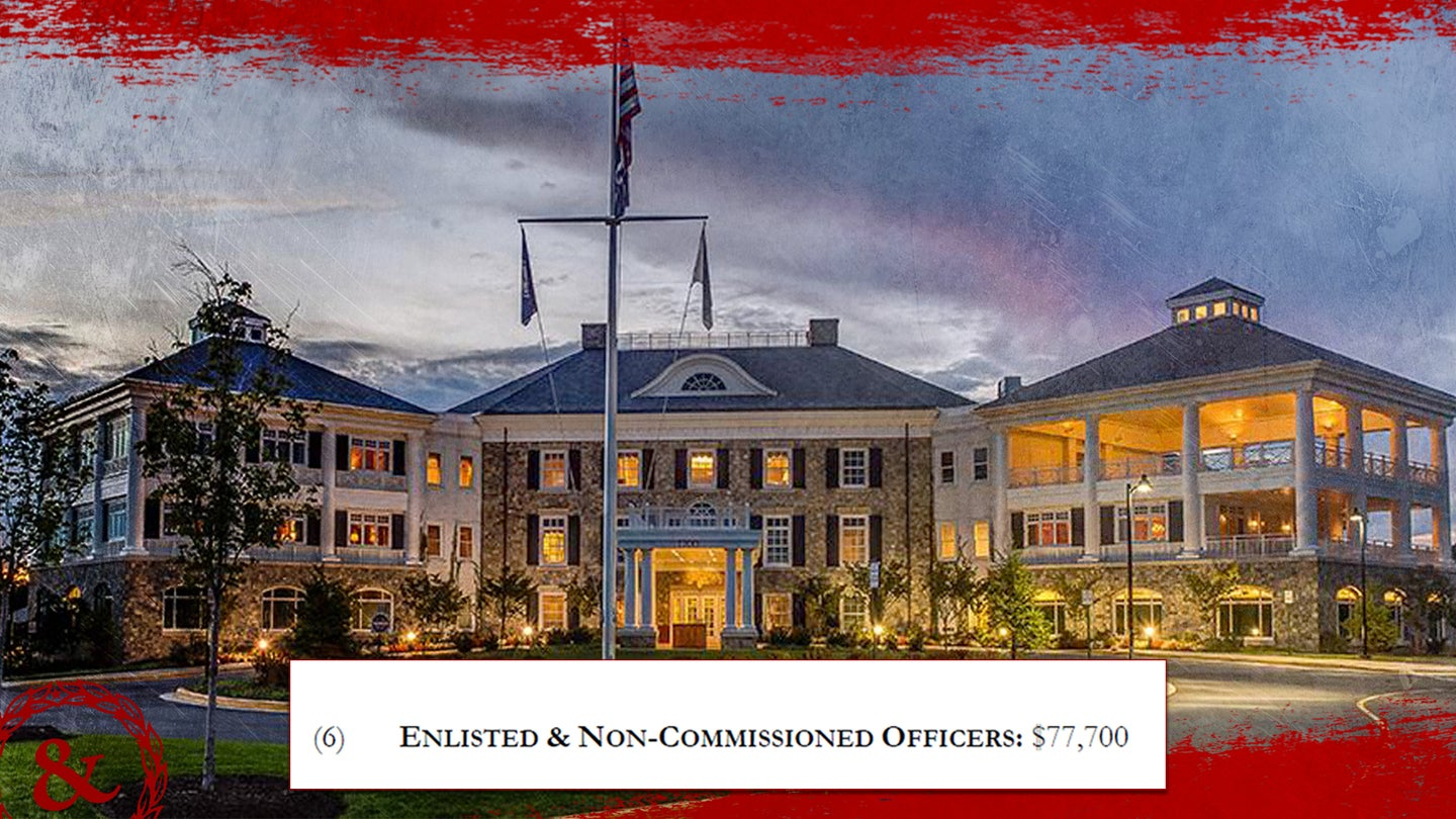 This Army Navy Country Club charges enlisted troops $77,700 to join — double the price for retired officers