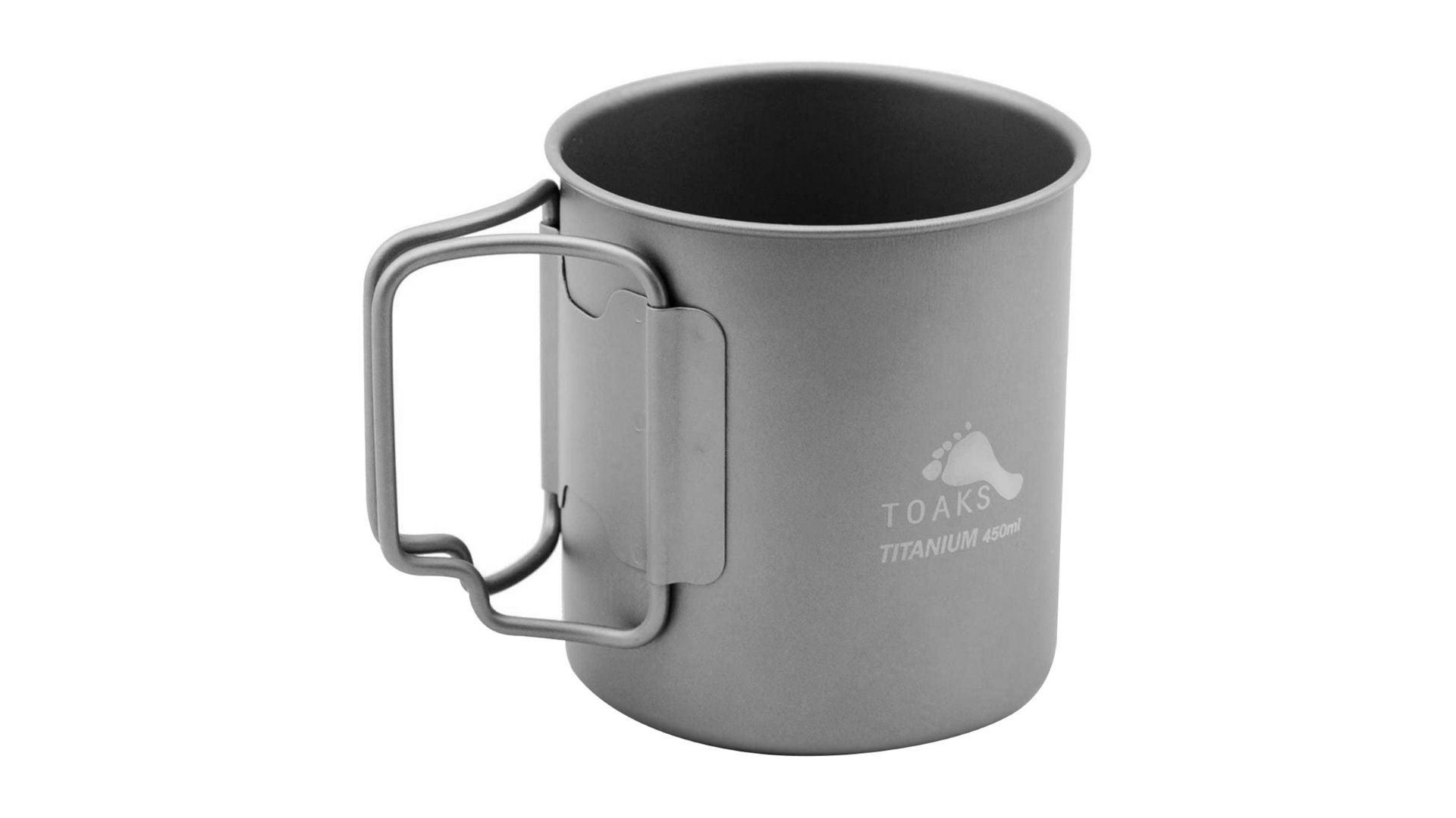 TOAKS Ultralight Portable Titanium Camping Mug 450 ml