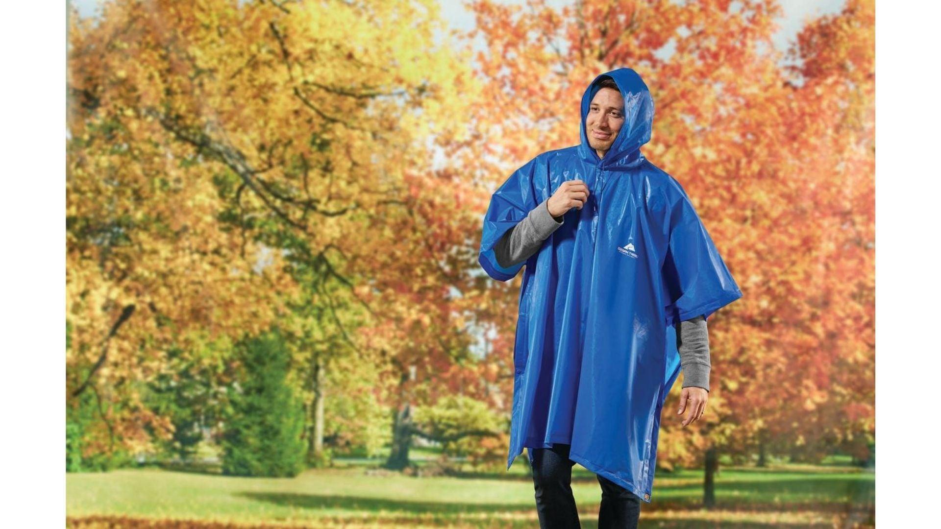 Ozark Trail Eva Adult Rainwear Poncho, Blue, One Size Fits Most