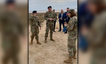 Air Force's top enlisted leader surprises airman with on-the-spot promotion