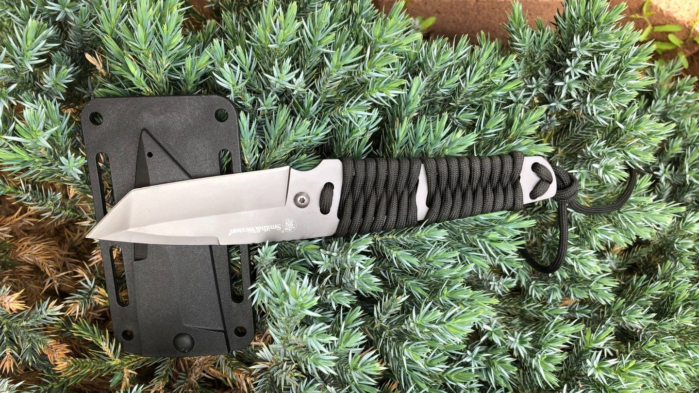 Smith & Wesson SW910TA 7.9in High Carbon S.S. Full Tang Neck Knife