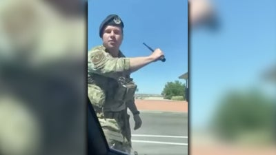 What we know about that viral video of an airman smashing a car window