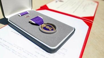 Division Sailor Receives Purple Heart Medal