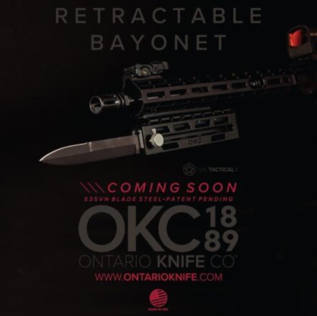 Ontario Knife Company's retractable bayonet