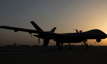 The US proxy war with Iran grows murkier after the military denies a recent drone strike in Syria