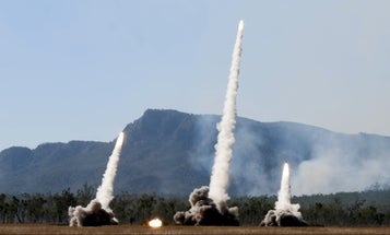 Watch US troops launch a volley of rockets in super slow motion set to Tchaikovsky's '1812 Overture'