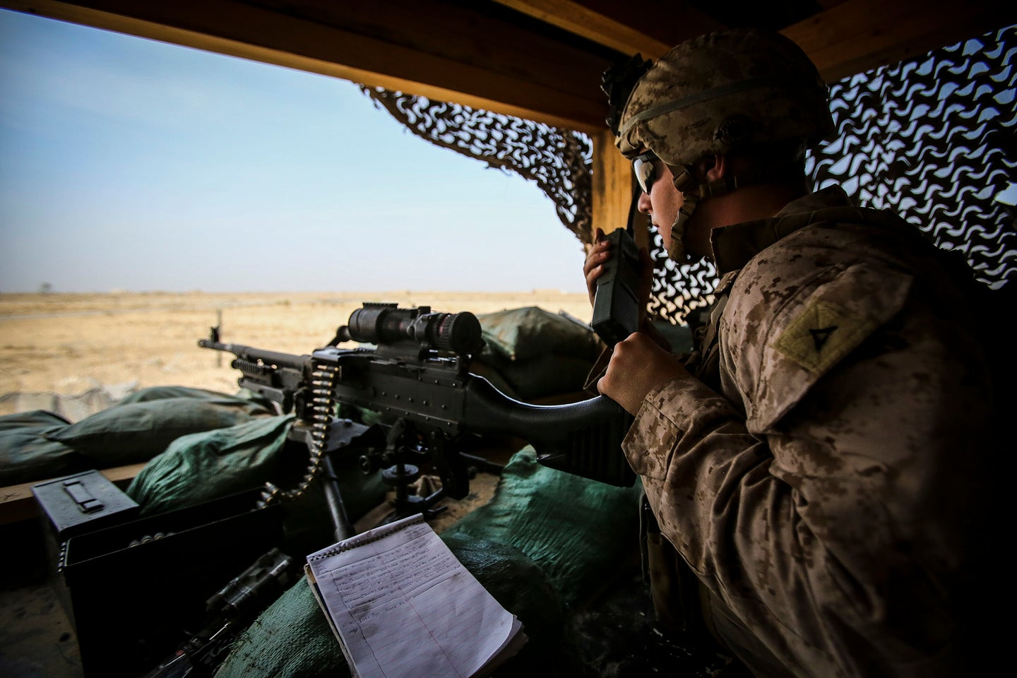 U.S. Marines maintaining security of coalition resources in Iraq
