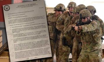 Senior enlisted Air Force leader pens typo-riddled letter demanding 'flawless' paperwork