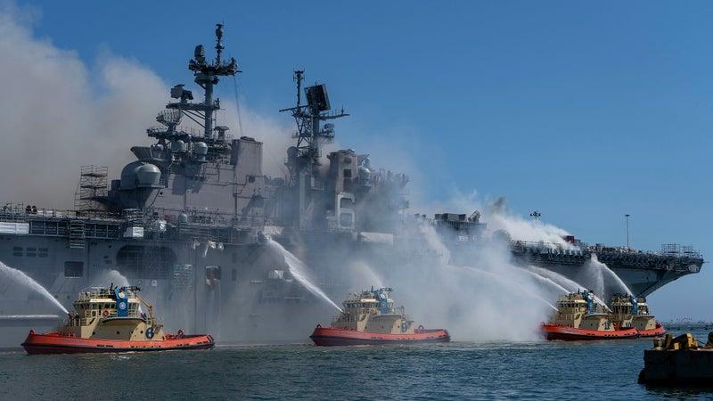 Damning investigation into USS Bonhomme Richard fire reveals sailors were totally unprepared