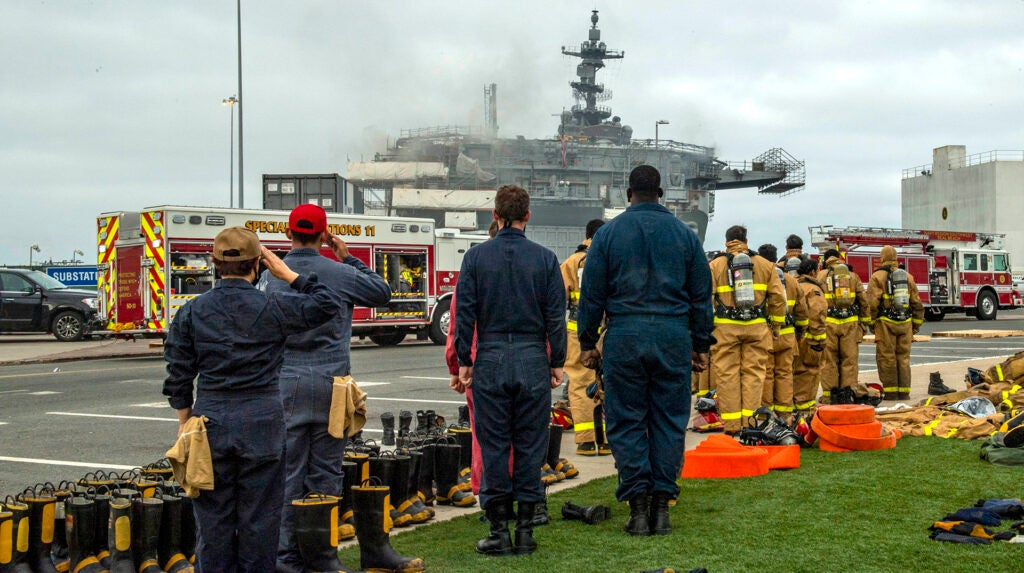 A 20-year-old Navy SEAL dropout is the sailor charged in the USS Bonhomme Richard fire