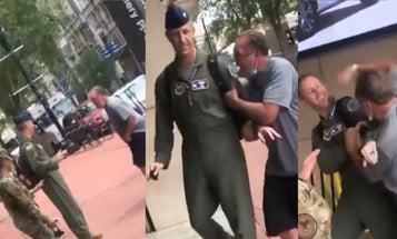 Air Force officer shows courageous restraint by not punching irate attacker on DC street