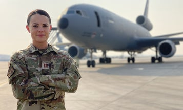 Air Force captain honored for cleaning aircraft toilet